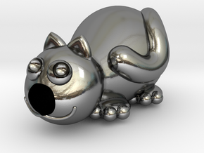 Caty in Polished Silver