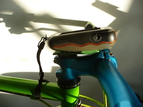 Garmin Stem cap Mount H0D5 in Green Strong & Flexible Polished