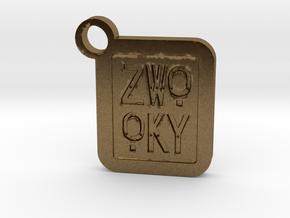 ZWOOKY Keyring LOGO 14 4cm 5mm negativ in Natural Bronze