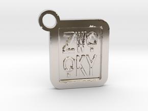 ZWOOKY Keyring LOGO 14 4cm 4mm  in Platinum