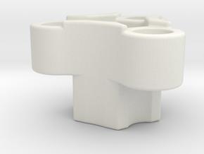 Rc-rim to 3 pin mount adaptor in White Natural Versatile Plastic