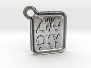 ZWOOKY Keyring LOGO 14 4cm 5mm rounded in Natural Silver
