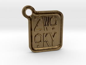 ZWOOKY Keyring LOGO 14 4cm 5mm rounded in Natural Bronze