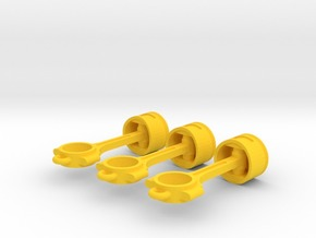 Piston pendant in Yellow Strong & Flexible Polished