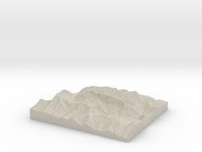 Model of Marmolada in Natural Sandstone