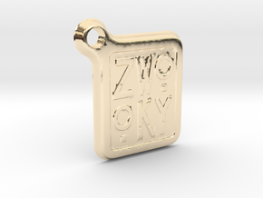 ZWOOKY Keyring LOGO 12 4cm 3mm rounded in 14K Yellow Gold
