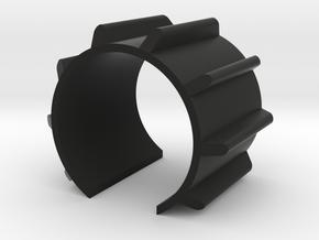 Emitter Fin - Mara Jade 38mm long - MHS compatible in Black Natural Versatile Plastic