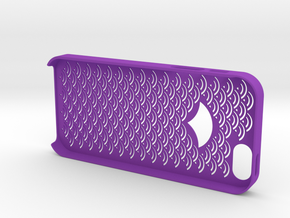Iphone5/5s Case,cover Japanese traditional pattern in Purple Strong & Flexible Polished
