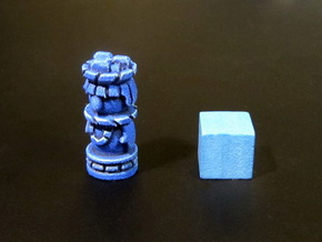 Mayan Worker Tokens (6 pcs) in Blue Processed Versatile Plastic