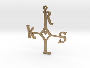 "Karolus ornament 3"" (for steel print) in Polished Gold Steel"