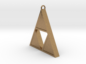 Triforce Pendant in Natural Brass