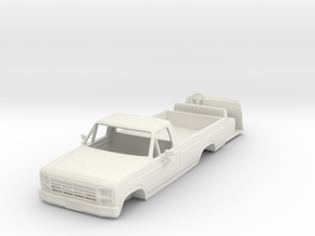 1/64 scale 1984 Ford pickup with interior in White Natural Versatile Plastic