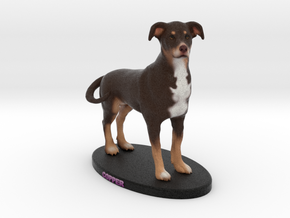 Custom Dog Figurine - Copper in Full Color Sandstone