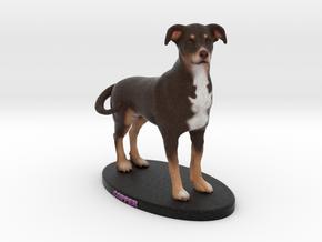 Custom Dog Figurine - Copper in Full Color Sandstone