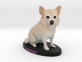 Custom Dog Figurine - Destiny in Full Color Sandstone