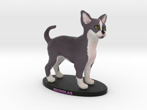Custom Cat Figurine - Nicholas in Full Color Sandstone