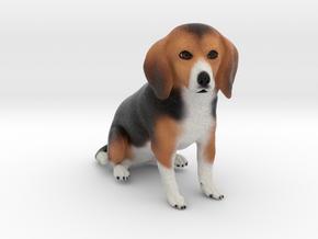 Custom Dog Ornament - Troyzie in Full Color Sandstone
