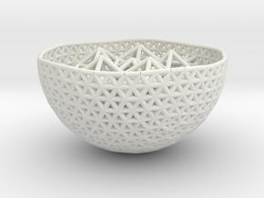 Cell Sphere 10 - Suspended Spiky in White Natural Versatile Plastic
