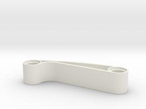 Curved Bridge in White Natural Versatile Plastic
