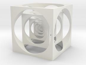 Cool cube in White Natural Versatile Plastic