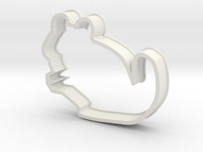 Chinchilla Cookie Cutter Improved in White Natural Versatile Plastic