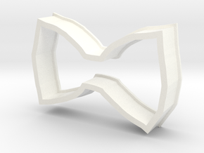 Bow Cookie Cutter in White Processed Versatile Plastic