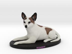 Custom Dog Figurine - Sonny in Full Color Sandstone