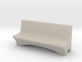 HO Scale Concrete Bench in Natural Sandstone