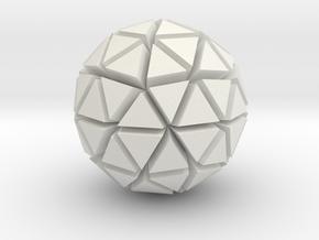 Tri-Ico-Sphere in White Natural Versatile Plastic