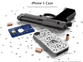 """iPhone 5 - """"Shattered"""" Case with Pocket in White Processed Versatile Plastic"""