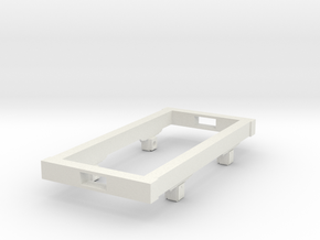 Gn15 small 6ft wagon chassis in White Strong & Flexible