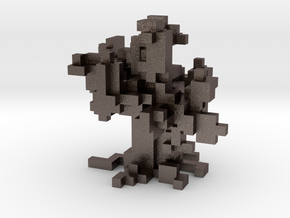 Voxel Tree in Polished Bronzed Silver Steel