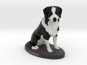 Custom Dog Figurine - Jasmine in Full Color Sandstone