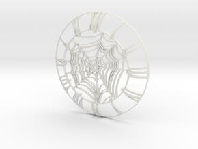 Spider's Web Clock Face in White Natural Versatile Plastic