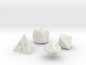 Dice Set in White Strong & Flexible