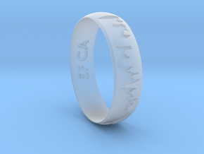 Ring SF Skyline in Smooth Fine Detail Plastic