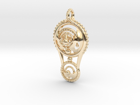 Double Circle Pendant in 14K Yellow Gold