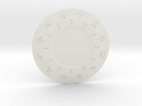 Zodiac Medallion in White Natural Versatile Plastic