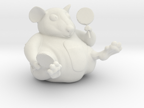 The Candy Mouse 2.5 Inch in White Natural Versatile Plastic