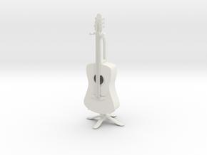 Guitar in White Natural Versatile Plastic