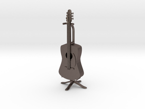 Guitar in Polished Bronzed Silver Steel