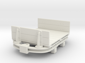 1:35 or Gn15 small skip based flat wagon with ends in White Strong & Flexible