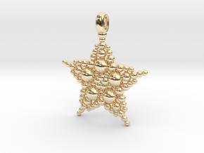 COSMIC STARFISH Designer Jewelry Pendant in 14K Yellow Gold