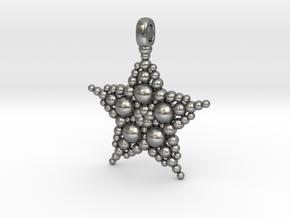 COSMIC STARFISH Designer Jewelry Pendant in Natural Silver
