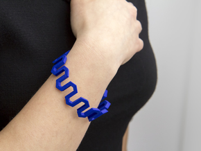 Medium Size - Pattern Bracelet in Blue Processed Versatile Plastic