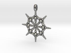 SPHERICAL FOCUS Designer Jewelry Pendant  in Natural Silver