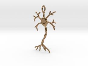 "Neuron Pendant (1.7"" high) in Natural Brass"
