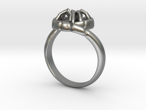 SPIDER Statement Designer Ring  in Raw Silver