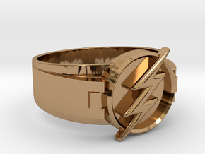 Flash Ring size 10 20mm  in Polished Brass