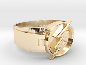 Flash Ring Size 9 19mm  in 14K Yellow Gold